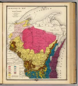 Geological map of Wisconsin.