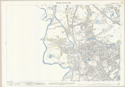 Cheshire XI.1 (includes: Denton; Hyde) - 25 Inch Map