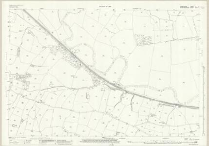 Derbyshire LII.7 (includes: Doveridge; Marchington; Uttoxeter Rural; Uttoxeter) - 25 Inch Map