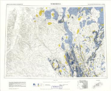 Geologiske kart 121-Z: Kart med magnetisk totalfelt. Nordreisa