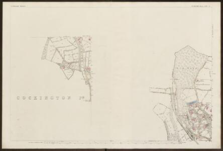 Devon CXVI.9 (inset CXVI.13) (includes: Marldon; Torquay) - 25 Inch Map