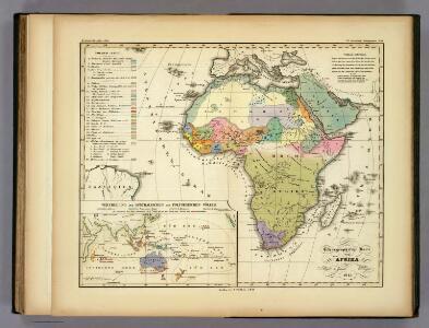 Ethnographische Karte von Afrika.