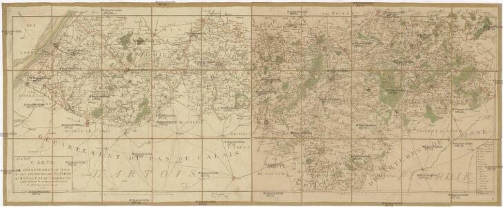 Carte du département du Nord ou les provinces de Flandre, du Hainaut et du Cambresis