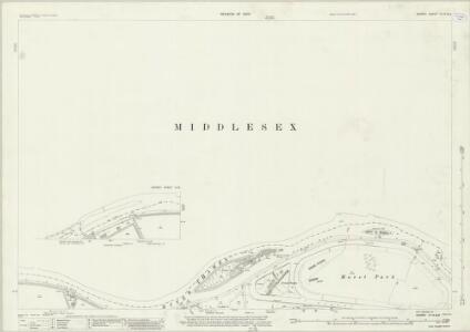 Surrey VI.14 &13 (includes: Hanworth; Sunbury; Twickenham St Mary The Virgin; West Molesey) - 25 Inch Map