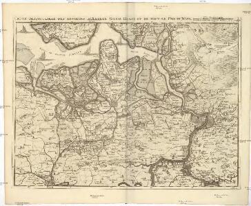 Carte particuliere des environs d'Anvers, Gand, Hulst, et de tout le Pays de Waes