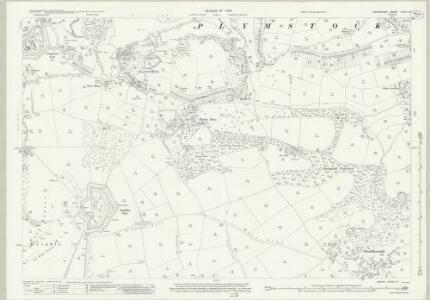 Devon CXXIV.13 (includes: Plymstock) - 25 Inch Map