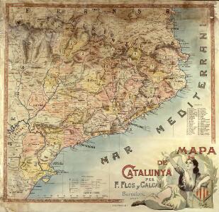 Mapa de Catalunya / per F. Flos y Calcat