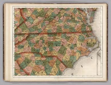 Virginia, North Carolina, South Carolina.