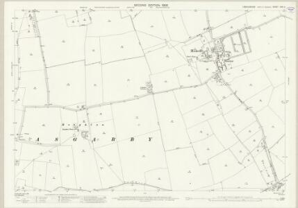 Lincolnshire CVII.5 (includes: Asgarby and Howell; Ewerby and Evedon; Heckington; Kirkby La Thorpe) - 25 Inch Map