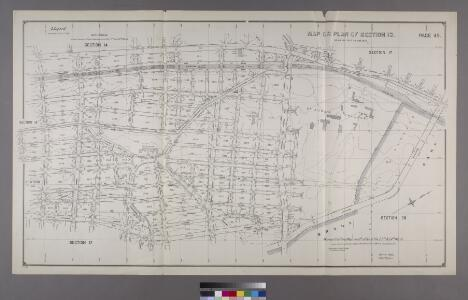 Map or Plan of Section 13. [Bounded by E. 179th Street, Lafantaine Avenue, E. 178th Street, Third Avenue, E. 179th Street, Webster Avenue, Southern Boulevard and Crotona Avenue.]; Maps or plans and profiles, with field notes and explanatory remarks, showing the location, width, grades, and class of streets, roads, avenues, public squares and places, located and laid out by the Commissioner of Street Improvements of the 23rd and 24th wards of the city of New York: under authority of Chapter 545 of the laws of 1890.