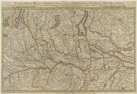 Theatrum Belli Italici. Anni 1701. Seu Novissima Tabula Geographica