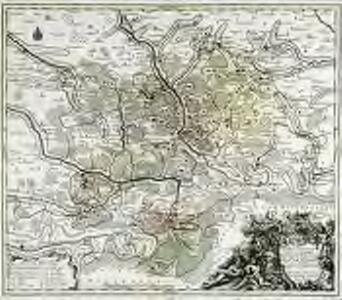 Novissima et accurata tabula geographica principalis S. R. I. præposituræ Ellevacensis