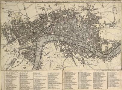 An IMPROVED PLAN of the CITIES of LONDON and WESTMINSTER and BOROUGH of SOUTHWARK, including the NEW BUILDINGS, ROADS &C. to the Present Year 1765.