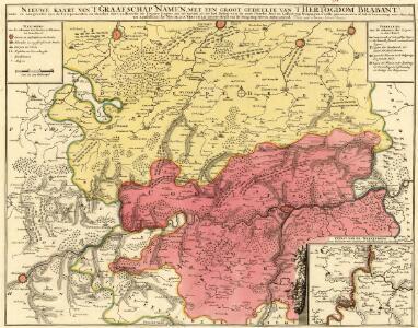 Nieuwe Kaart van T' Graafschap Namen, met een Groot Gedeelte van T'Hertogdom Brabant
