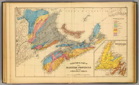 Geological map, Maritime Provinces.