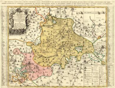 Accurate Geographische Delineation derer zum Fürstenthum Altenburg Gehörigen Herzoglichen Sachsen-Gothaischen Aemmter Altenburg und Ronneburg