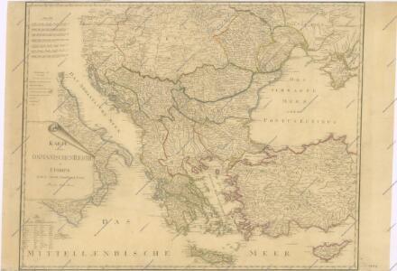 Karte von dem Osmanischen Reiche in Europa