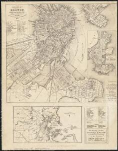 New map of Boston, comprising the whole city with the new boundaries of the wards