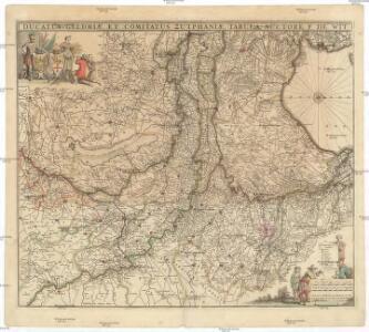 Ducatus Geldriae, et comitatus Zutphaniae, tabula