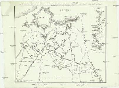 Plan officiel des travaux du siége de la citadelle d'Anvers exécutés par l'armée francaise en 1832