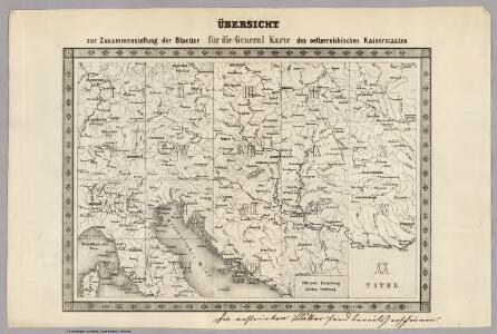 Key Sheet: Karte Des Oesterreichischen Kaiserstaates.