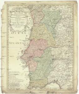 Regnum Portugalliae divisum in quinque provincias majores & subdivisum in sua quaeque territoria una cum Regno Algabriae speciali mappa exhibitum