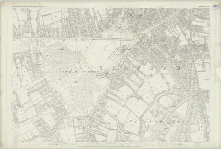 London (First Editions c1850s) LXXV (includes: Battersea; Wandsworth Borough) - 25 Inch Map