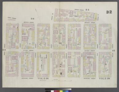 Plate 32: Map bounded by Houston Street, Willett Street, Rivington Street, Essex Street, Houston Street, Clinton Street, 2nd Street, Pitt Street