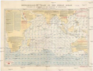 Meteorological chart of the Indian Ocean