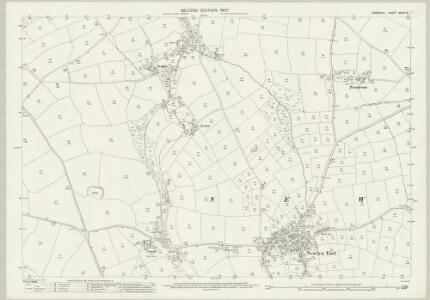 Cornwall XXXIX.16 (includes: Newlyn) - 25 Inch Map