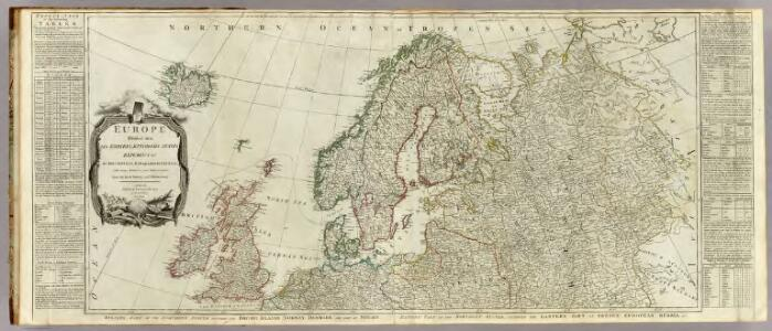 Europe divided into its empires, kingdoms, states, republics, &c. (Northern States)
