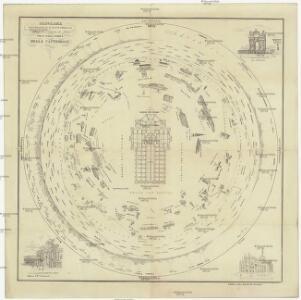Panorama orografico e pittoresco della citta e contorni di Miláno preso dalla somita della cattedrale