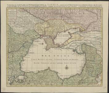 Nouvelle carte de la petite Tartarie ou Taurie, montrant les frontieres de l'Imperatrice de Russie, et l'Empereur des Turcs, tant en Europe qu'en Asie