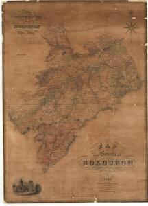 Map of the County of Roxburgh.