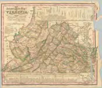 The travellers pocket map of Virginia: with its canals, rail-roads & distances from place to place along the stage roads / by H.S. Tanner; engraved by W. Brose, Philadelphia, 1830.