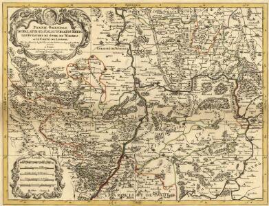Partie Orientale du Palatinat et Eslectorat du Rhein. Les Eveschés de Spire, de Wormes et le Comté de Linange