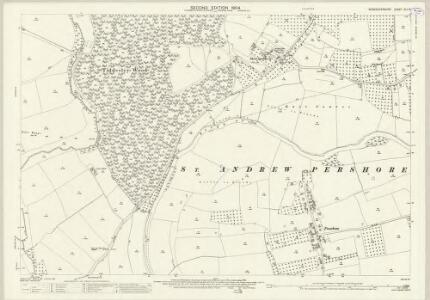 Worcestershire XLI.15 (includes: Besford; Birlingham; Defford; Pershore) - 25 Inch Map