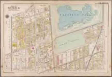 Plate 16: [Bounded by Terrace Place, 11th Avenue, Prospect Avenue, Seeley Street, (Prospect Park) Coney Island Avenue, Parkside Avenue, Ocean Avenue, Albemarle Road, Church Avenue, West Street, Fort Hamilton Avenue and (Greenwood Cemetery) Gravesend Avenue.]; Atlas of the borough of Brooklyn, city of New York: from actual surveys and official plans by George W. and Walter S. Bromley.