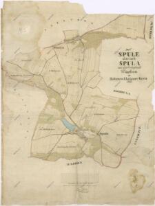 Katastrální mapa obce Spůle