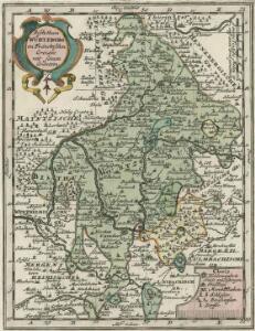 Bischthum Würtzburg im Fränckischen Creisse mit seinen Gräntzen