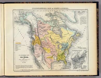 Ethnographisches Karte von Nord Amerika.