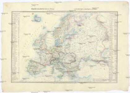 Physische und politische Carte von Europa