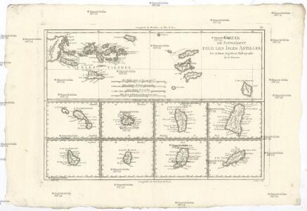 Cartes de supplément pour les isles Antilles
