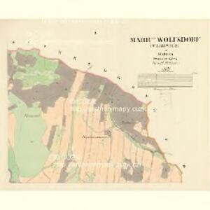 Mährisch Wolfsdorf (Wlkowice) - m1874-1-001 - Kaiserpflichtexemplar der Landkarten des stabilen Katasters