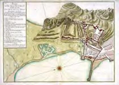 Plan des ville, chateau, mole, et baye de Gibraltar