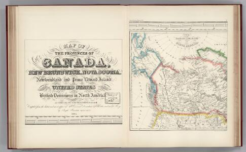 Facsimile:  Canada and United States (portion).