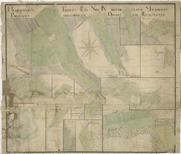 Plán pozemků a rybníků při dvoře Pořejov