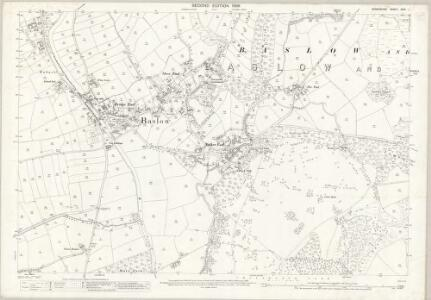 Derbyshire XXIV.1 (includes: Baslow and Bubnell; Chatsworth; Edensor; Pilsley) - 25 Inch Map