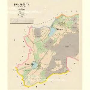 Kwaschlitz (Kwaschlice) - c3745-1-001 - Kaiserpflichtexemplar der Landkarten des stabilen Katasters