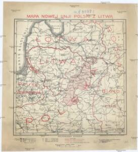 Mapa nowej unji Polski z Litwą